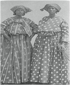Surinaamse dames in Kotomisi.