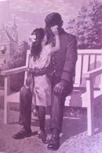 Anoniem, afbeelding in: P. Louwerse, Zwarte Sam, of een neger is ook een mensch, Zuthphen (Schillemans en Van Belkum) [1895] uit: Zwart - Sambo, Tien kleine negertjes, PijpjeDrop, Pompernikkel en anderen (Jeroen Kappelle en Dirk J. Tang, 2008)